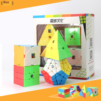 Moyu Cube Box SQ1 Skew Pyramid Megamin Magic Cube 3x3x3 Gift Box Packing Specail Cube Puzzle Toys For Children image