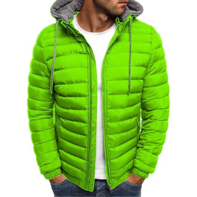 Zogaa Winter Jacket Men Hooded Coat Causal Zipper