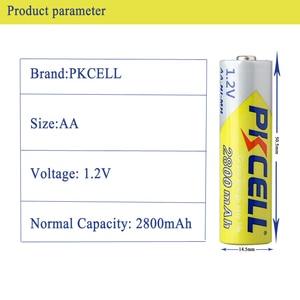 Image 4 - PKCELL Ni MH AA pil 2600mAh 2800mAh 1.2V NiMh şarj edilebilir pil 2A Batteria hücre el feneri kamera oyuncaklar