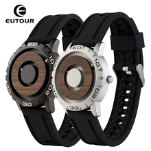 Creative Wood Watch Sliver Black Magnetic Beads Dial Metal M