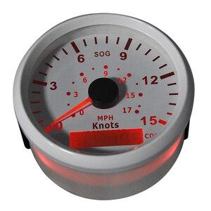 Image 5 - 85mm GPS Tacho motorrad 15 Knoten 0 17 MPH Universal Boot Auto Speed Gauge 9 32V für Marine Fahrzeuge 9 32V instrument panel