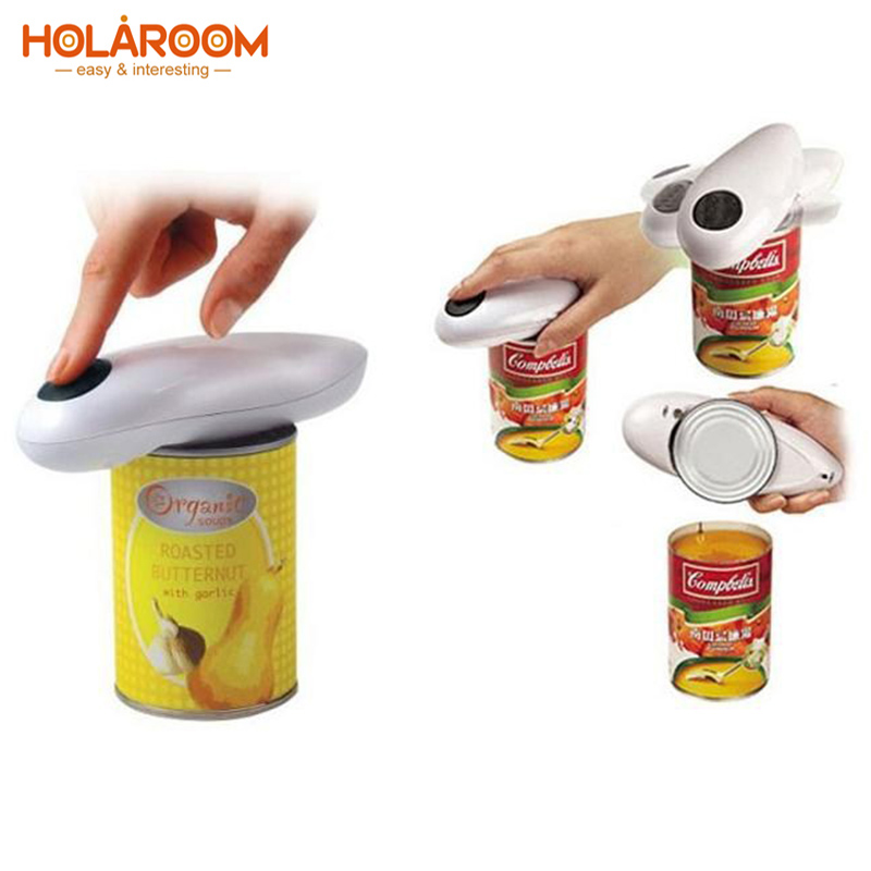 Holaroom Innovative Electric Tin Opener One Touch Jar Opener Practical Can Bottle Opener Automatic Jar Openers Kitchen Gadgets