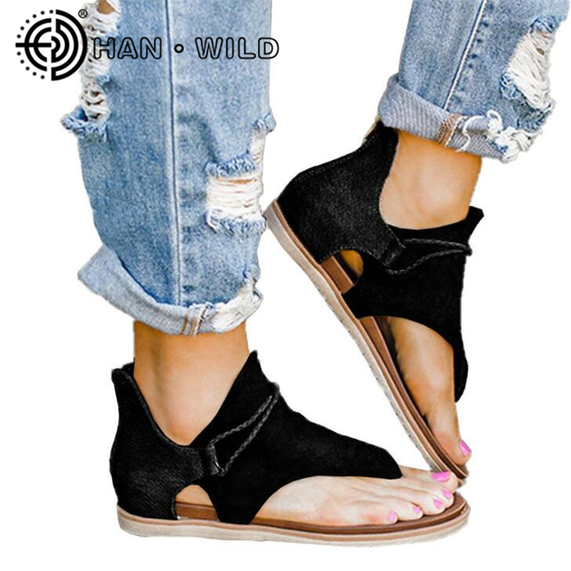 Summer Hot Sandals Large Size Women Leopard Print Sandals Non-slip Outdoor Flat Women Sandals Ladies Beach Slides Flip Flops