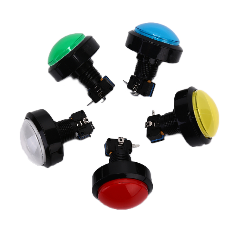 Good Quality <font><b>60MM</b></font> Arcade <font><b>Button</b></font> LED Lamp Round Arcade Game Player Push <font><b>Button</b></font> Switch image