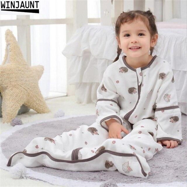0 12 Years Cotton Babi infant Sleepsack Detachable Sleeve Boys Sleep Sack Girls Baby Kids Childrens Envelope Baby Sleeping Bags