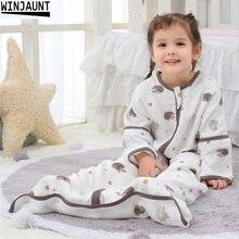 0 12 yıl pamuk bebek bebek Sleepsack ayrılabilir kollu erkek uyku tulumu kız bebek çocuk çocuk zarf bebek uyku çanta