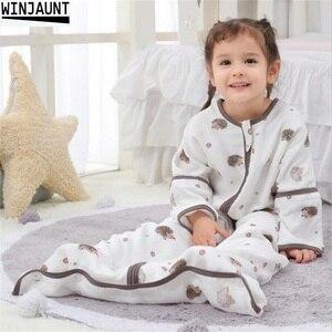 Image 1 - 0 12 yıl pamuk bebek bebek Sleepsack ayrılabilir kollu erkek uyku tulumu kız bebek çocuk çocuk zarf bebek uyku çanta