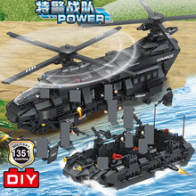1351Pcs SWAT Team Large Transport Helicopter LegoINGLs ARMY Building Blocks Sets City Police Toys for Children Christmas Gifts