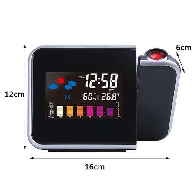LED Projector Alarm Clock  2
