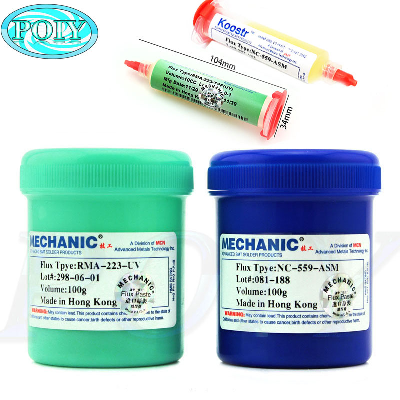 RMA-223//NC-559-ASM//XG-Z40//PCB 10cc Solder Paste Repairing Paint Soldering Flux