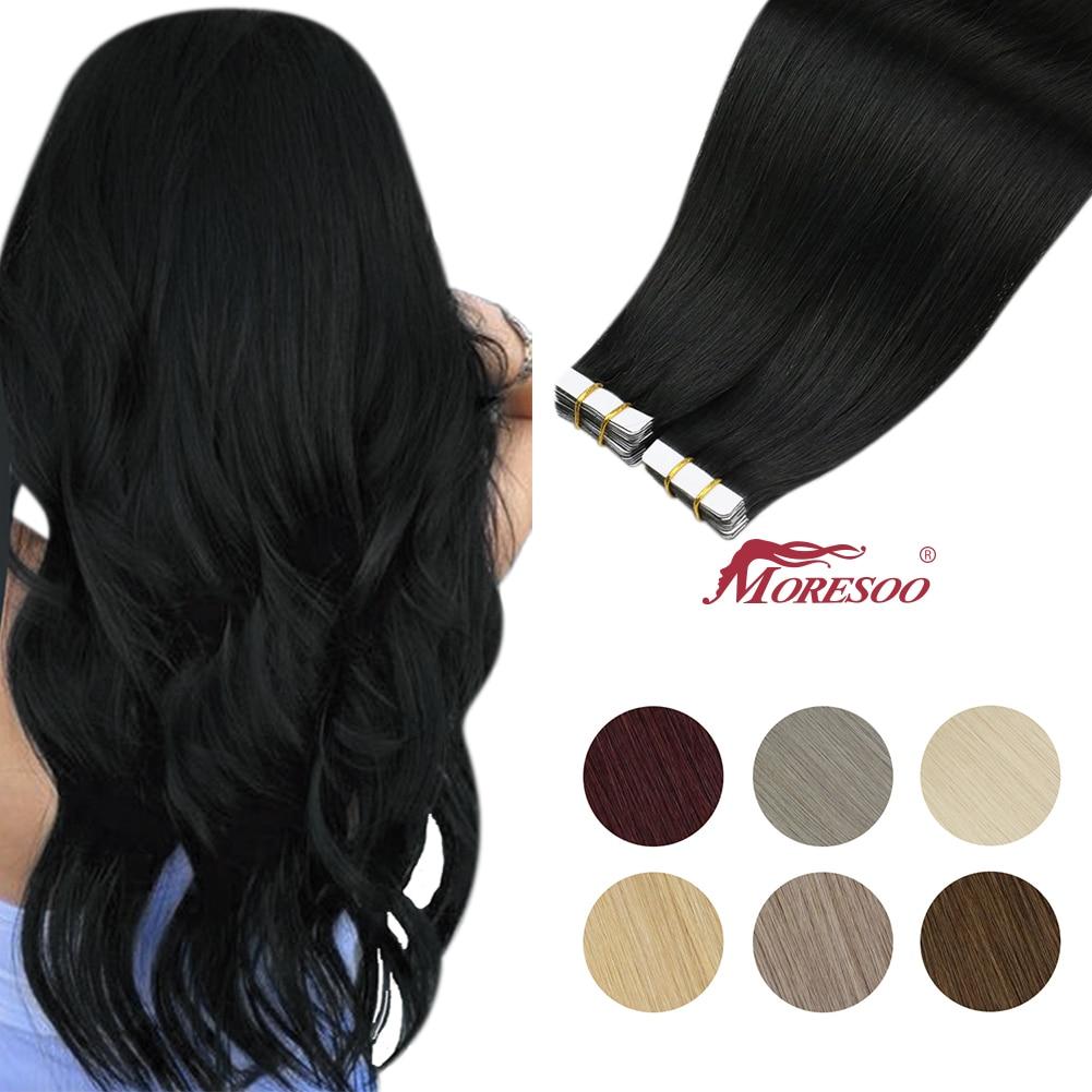 Купить moresoo лента для наращивания волос 26 28 дюймов клей на натуральной