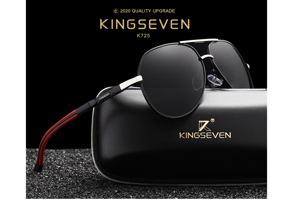 H69e5cab8d6404de09104bea6d787e2b8D - KINGSEVEN Men Vintage Aluminum Polarized Sunglasses Classic Brand Sun glasses Coating Lens Driving Eyewear For Men/Women