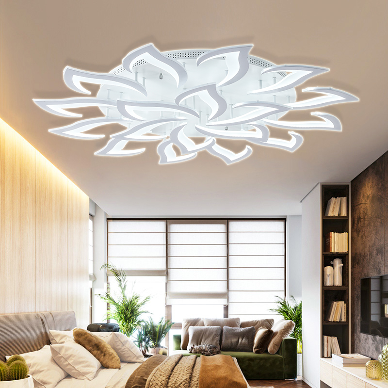 H69e5cd33a04446c682aab2c1fc492036k IRALAN modern led ceiling lights for living room kitchen bedroom kids' room  dimmable lamp art deco fixture with remote control