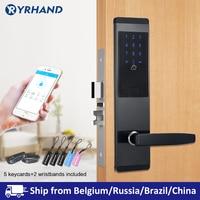 TTlock приложение безопасности электронный дверной замок, приложение WIFI смарт сенсорный экран блокировки, цифровой код клавиатуры Deadbolt для до...