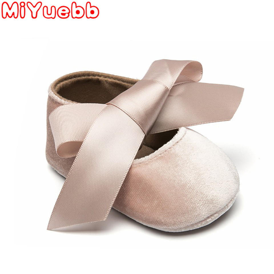 Baby Girl Shoes 2020 Brand Baby New Shoes For Girls Bow Lace Up Pu Leather Princess Baby Shoes First Walkers Newborn For Girls