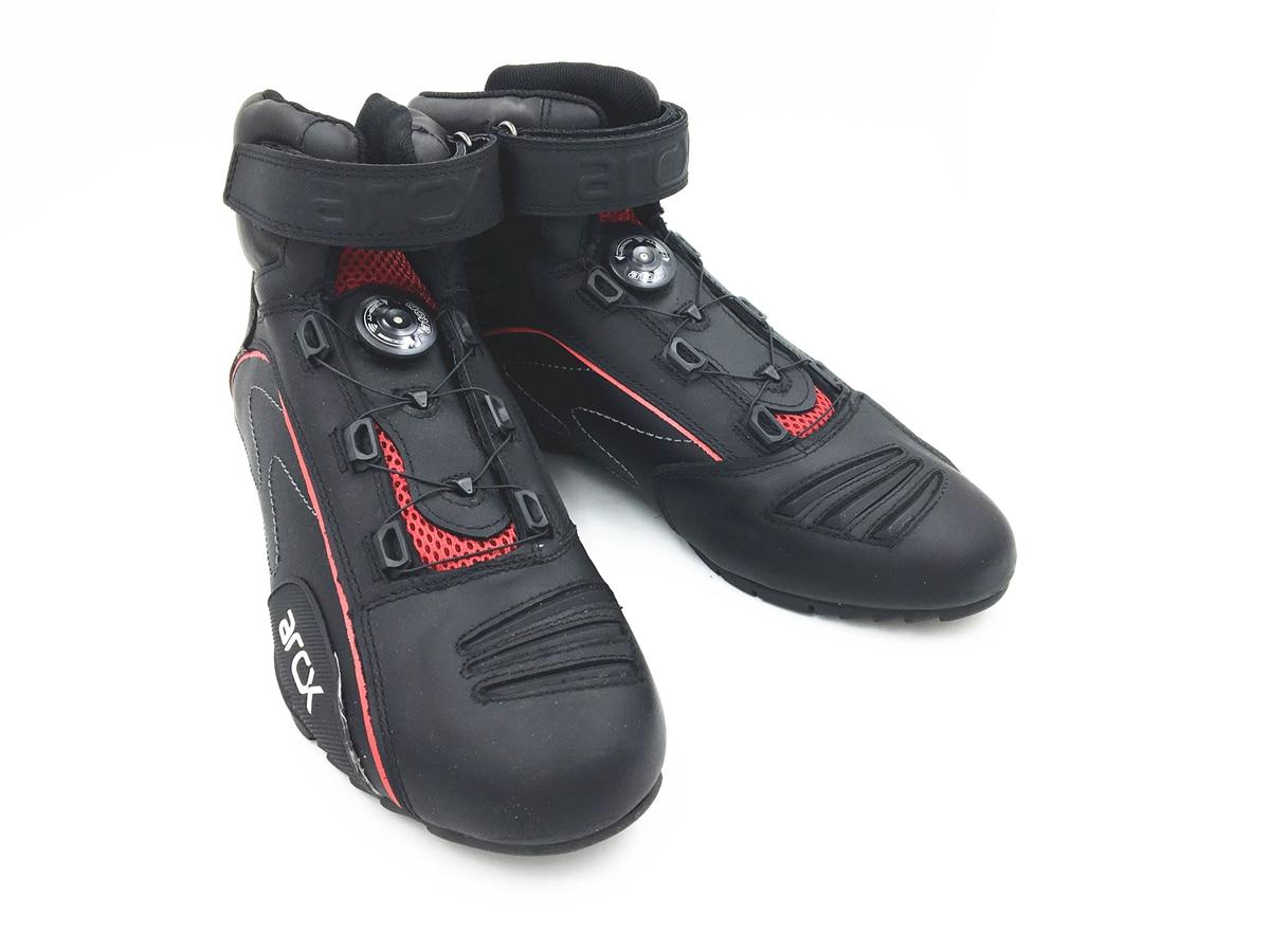 ARCX Marke Motorrad Echtem Leder Stiefeletten Touring Boot Kuh Leder Sommer Atmungsaktive Schuhe Herren Reit Lokomotive Stiefel