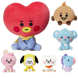 Корейский плюшевый игрушечный брелок в виде супер звезды, мультяшное животное, кукла, BTSPlush, стоячий Детский Рождественский подарок