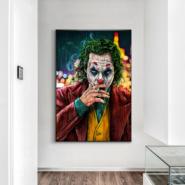 Movie Star The Joker Oil Canvas Painting Poster Prints Joker Comic Wall Art Painting Pictures for Living Room Home Decor