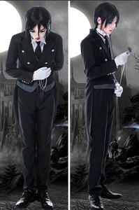 Image 4 - Disfraz de Anime Black Butler 2 Kuroshitsuji Sebastian Michaelis, uniforme Unisex