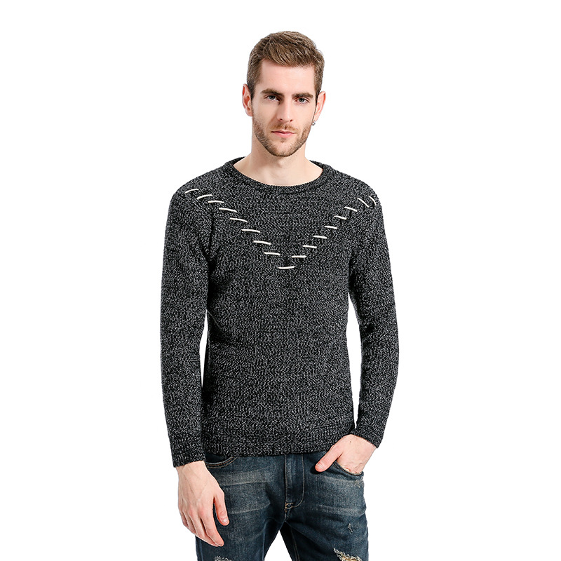 Sweaters Bottoming Shirts Slim 2019 Casual Male Pullover Smart Fashion Autumn Windproof Solid Warm Homme Men Sweater MOOWNUC New