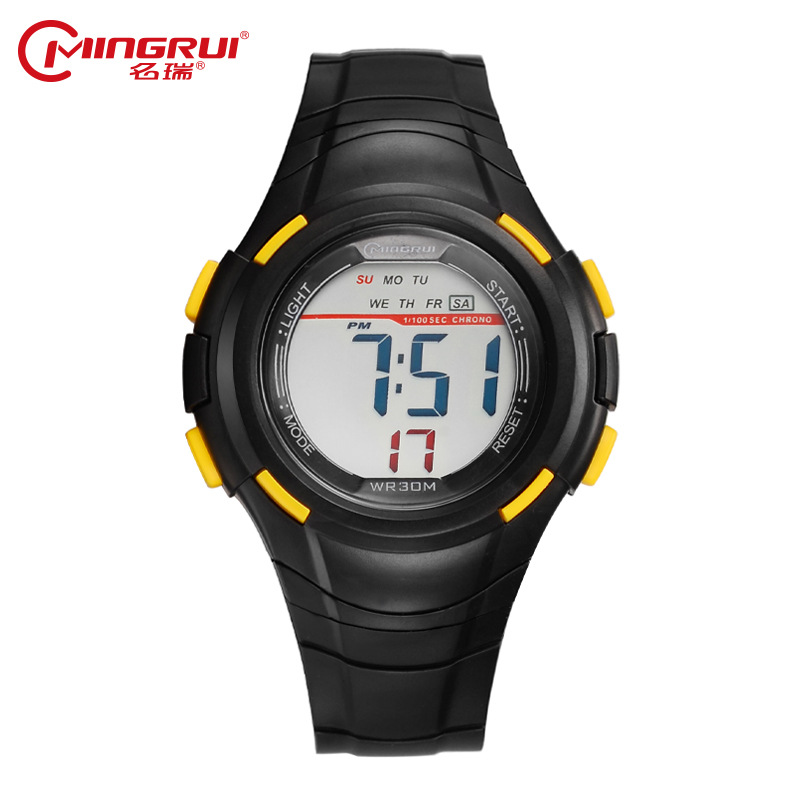MINGRUI Brand Children Watch Silicone Band Waterproof LED Display Digital Kid Watches Multi Function Wristwatch relogio infantil