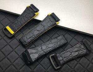 Image 4 - 25ミリメートル男性ナイロン生地革時計バンドとリチャード腕時計milleストラップバンドブレスレットバックル春バーバージョン送料ツール