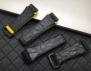 Image 4 - 25mm men nylon fabric with leather Watchband For Richard Watch Mille Strap band Bracelet buckle for spring bar version free tool