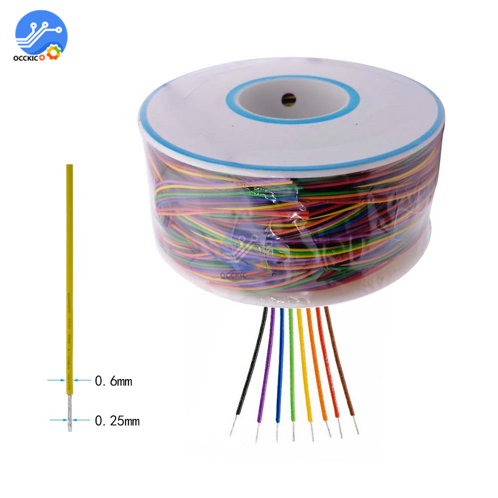 280m 30AWG 8 Color Wrapping Wire Tin Plated Copper PCB Cable B-30-1000 Breadboard Jumper Insulation Wire Connector