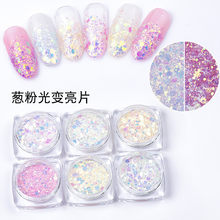 1 Box Nail Mermaid Glitter Powder Flakes Sparkly 3D Light Chameleon Color Changing Sequins Polish Manicure Nail Art Decorations