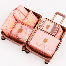 Cubes-Luggage Travel-Organizer Tote-Bags Packing Waterproof Double-Zipper 7pcs/Set High-Quality