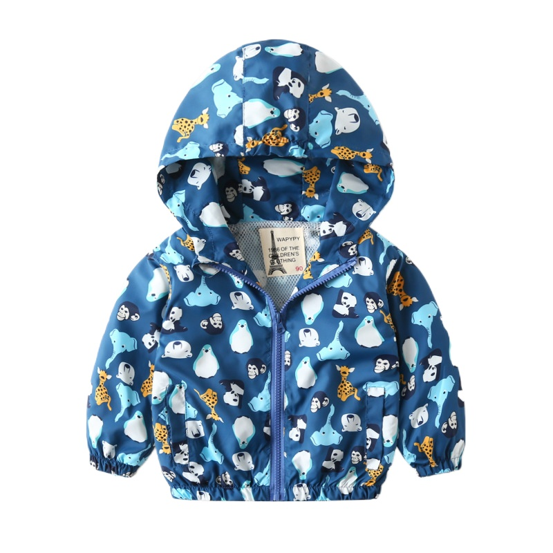 2021 Spring Children Jackets for Boys Hooded Patchwork Kids Boy Outerwear Windbreaker Autumn Casual Children Coats Clothing 2-7Y
