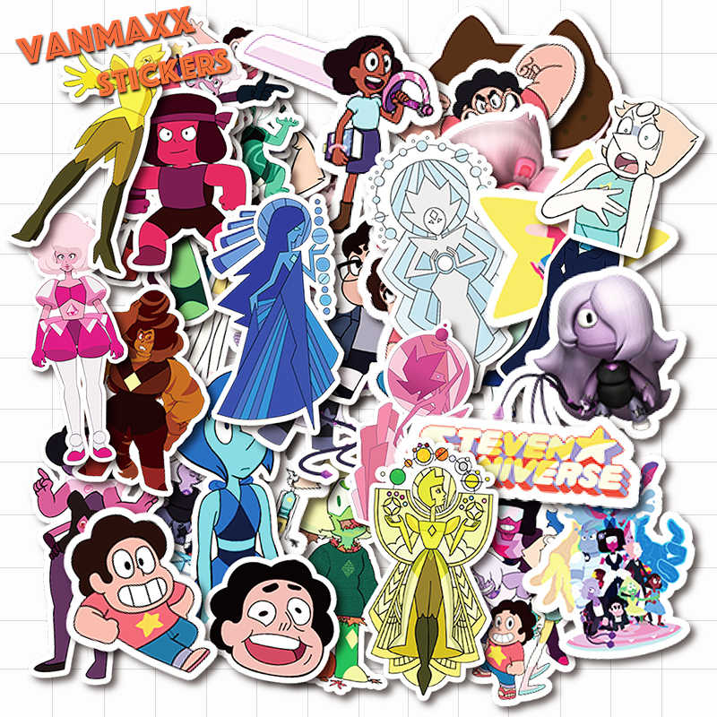 VANMAXX 50 PCS Steven Universe Cartoon Stickers Waterproof PVC Decal for Laptop Helmet Bicycle Luggage Phone Case Car Stickers