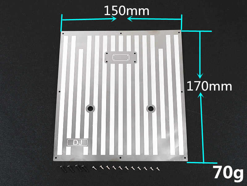 Plaque décorative de plaque antidérapante de couverture de coffre arrière d'acier inoxydable pour TRAXXAS TRX-6 AMG G63 88096-4 pièces de mise à niveau de voiture de chenille de RC