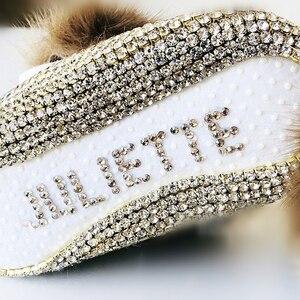 Image 3 - ブランドに触発幼児記念品クリスタルpersonlized手作りベビー王女の靴すべてカバークリスタル誕生日ギフトブリンブリンの靴
