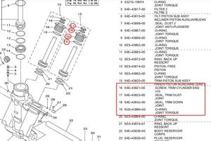 Image 5 - 64E 43821 בורג לקצץ צילינדר Inclued חותמות לyamaha סירת חלקי 1997 2017up 64E 43821 09 64E 43821 00