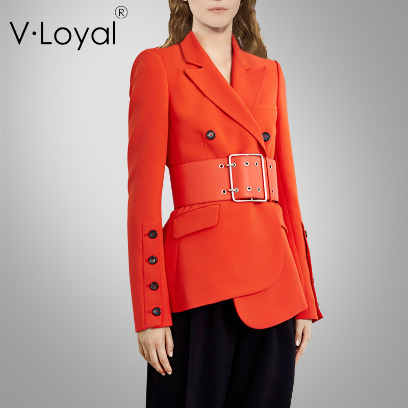 Early Autumn New Fashion, Irregular Dress Jacket, European And American Double-breasted Suit Jacket