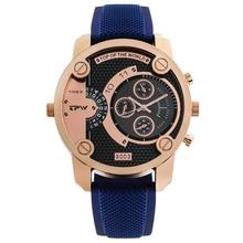цена Men Watch Creative Design Watches Silicone Strap Big Dial Luxury Business Quartz Wristwatch Watch Male Clock Relojes онлайн в 2017 году