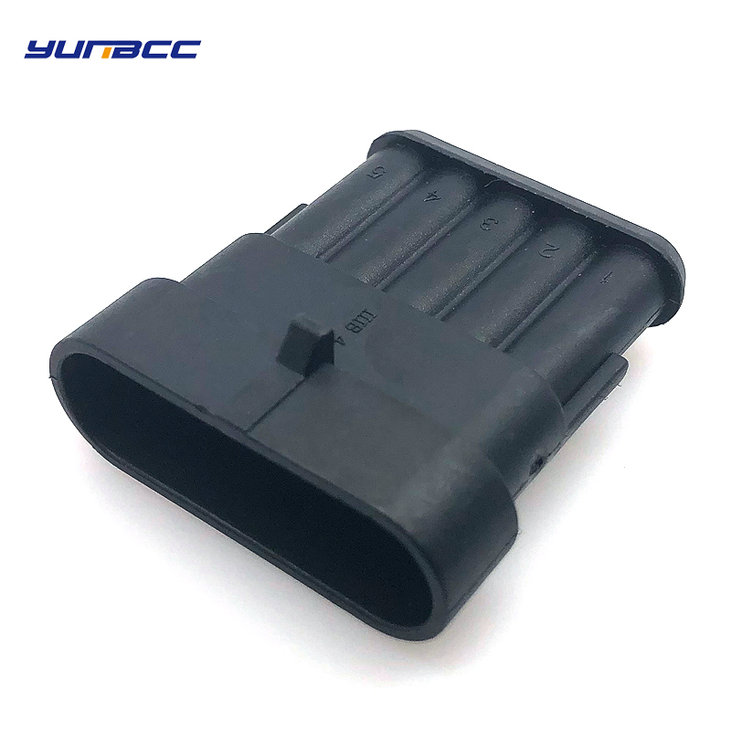 Conjuntos 5 tyco amp 5pin auto habitação à prova d' água plug cabo conector de fiação 282107-1