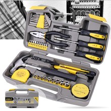 36 Sets Of Household Tools Multi-functional Hardware Toolbox Hammer Pliers Screwdriver Socket Hexagon Set multi functional mini pliers for outdoor activities household use