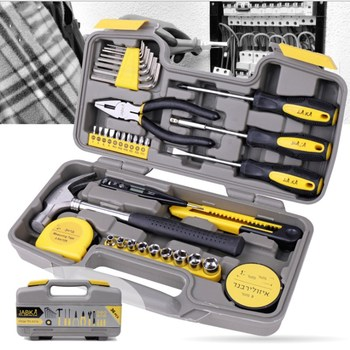 цена на 36 Sets Of Household Tools Multi-functional Hardware Toolbox Hammer Pliers Screwdriver Socket Hexagon Set