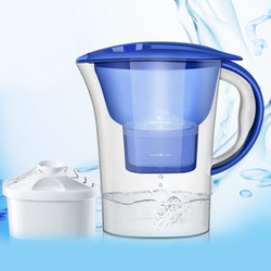 2.5l jarro de água casa ativado carvão líquido chaleira escritório purificador de água material grau alimentício filtro de água com temporizador eletrônico