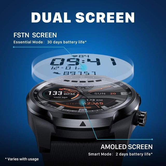 Ticwatch pro 4g/lte versão da ue 1gb ram sono rastreamento ip68 relógio à prova dnágua nfc lte para vodafone na alemanha relógio esportivo masculino 3