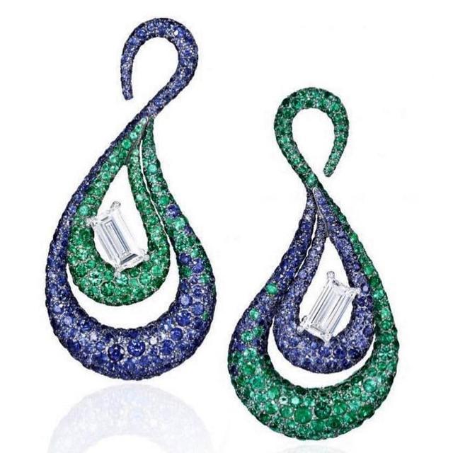 GODKI Beroemde 2019 Charmes Waterdrop Trendy Vrouwen Oorbellen Kubieke Zirkoon Druppel Oorbel Voor Vrouwen Bruiloft Accessoires