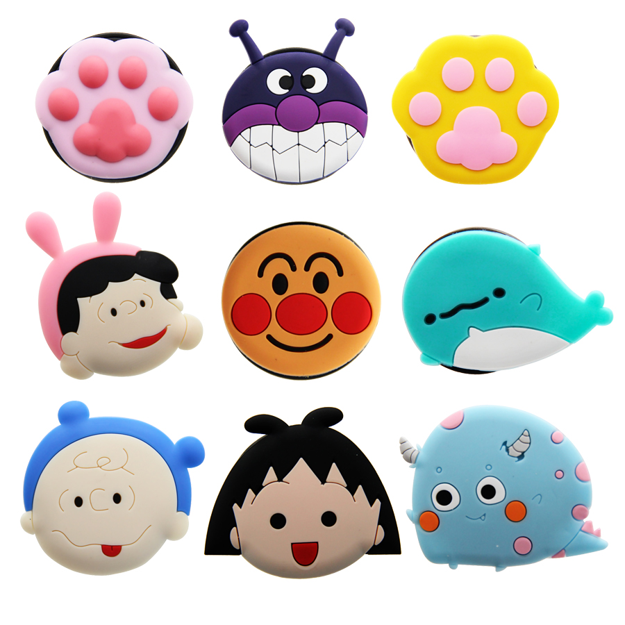 Cartoon Round Universal Mobile Phone Ring Holder Airbag Gasbag fold Stand Bracket Mount For iPhone Samsung Huawei Xiaomi