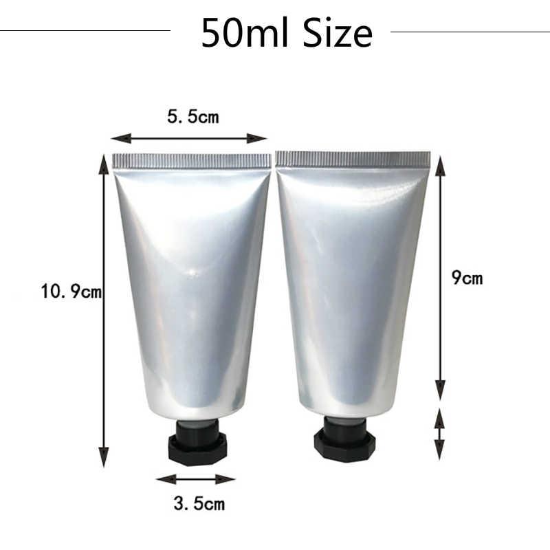 30ml 50ml 80ml argent en aluminium en plastique bouteille souple cosmétique soins de la peau crème presser emballage Tube corps Lotion voyage conteneur
