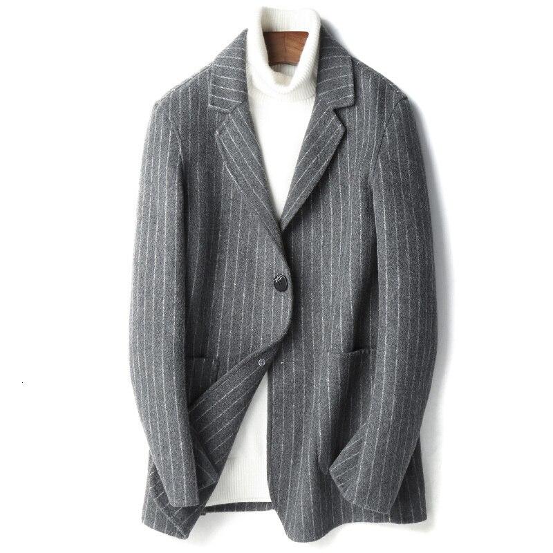 YOLANFAIRY Double Faced Wool Jacket Men Autumn Winter Top Quality Warm Coat Plus Size Blazer De Hombre 2020 D-19-00818-2 MF636