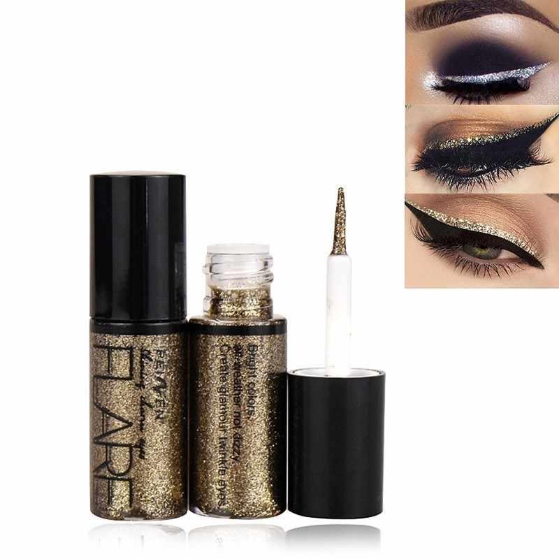 1 adet profesyonel makyaj gümüş altın renk sıvı Glitter Eyeliner yeni parlak göz gömlekleri kadınlar için göz Pigment kore kozmetik