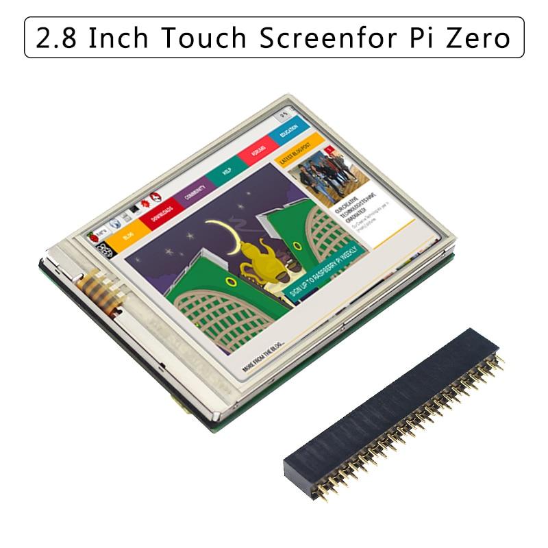 Raspberry Pi Null 2,8 Zoll Touch Screen HD 60 FPS 640x480 Display LCD Monitor + GPIO Header für raspberry Pi 4B/3B +/3B/Null W