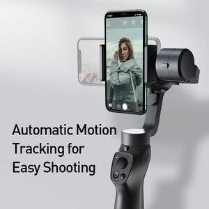 Image 3 - Baseus 3 osi bezprzewodowy Bluetooth ręczny Gimbal stabilizator telefonu dla iPhone Huawei statyw stabilizator Gimbal Gimal smartfon