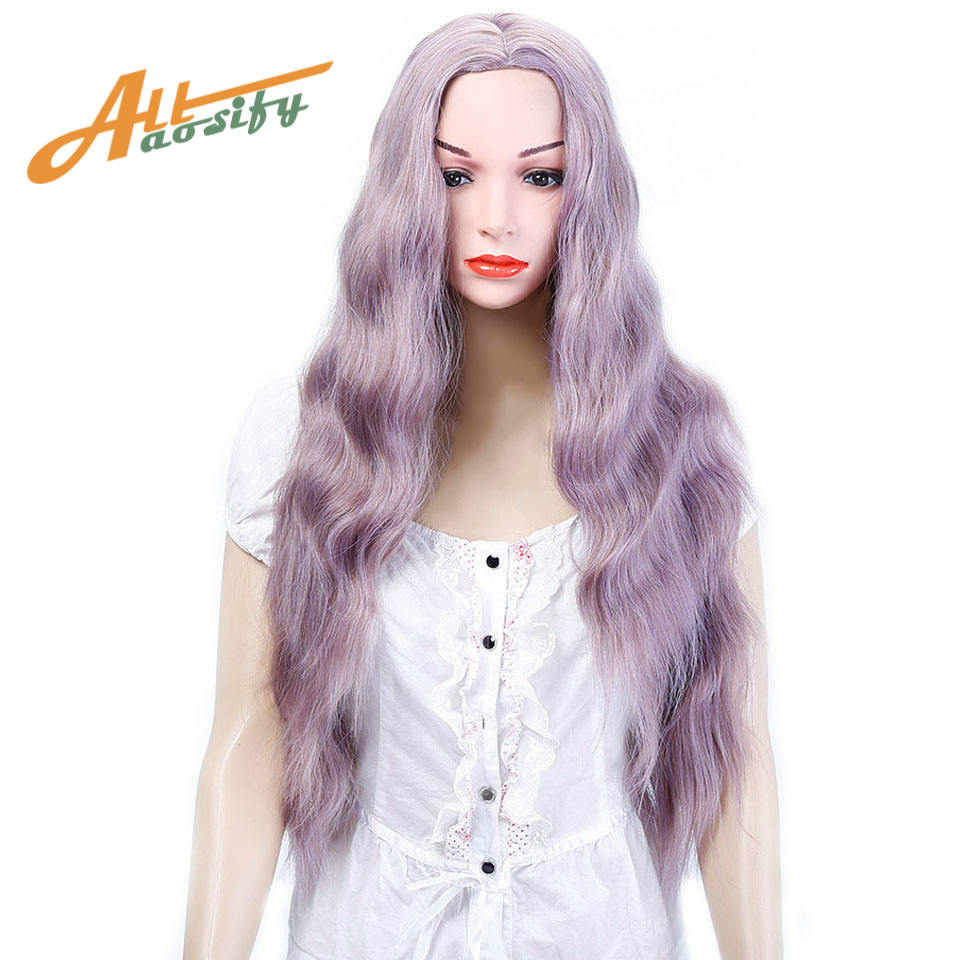 Allaosify Hair Synthetic Lace Front Wigs Deep Wave Wigs Black Pink Red Wigs for Women Heat Resistant Hai with Natural Hairline